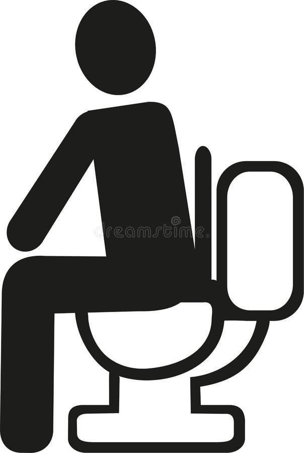 τουαλέτα συνεδρίασης α& ελεύθερη απεικόνιση δικαιώματος