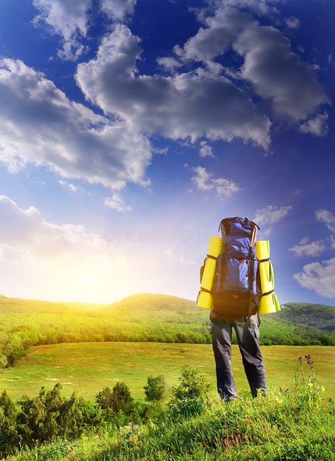 τουρίστας βουνών ατόμων στοκ εικόνα