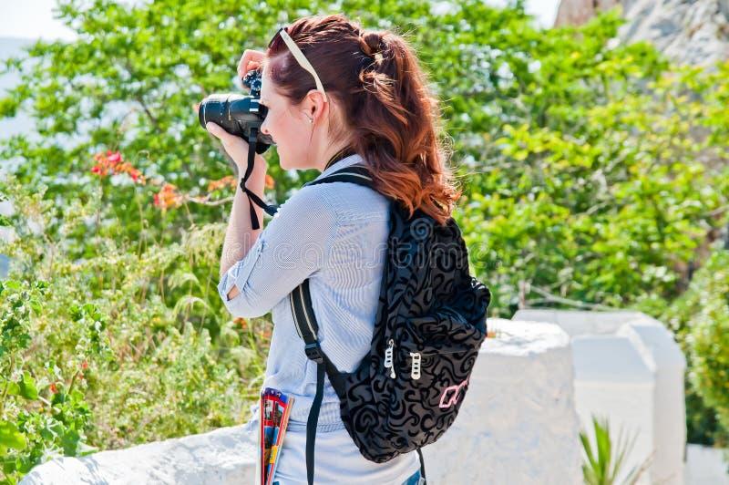 Τουρίστας γυναικών στοκ εικόνα