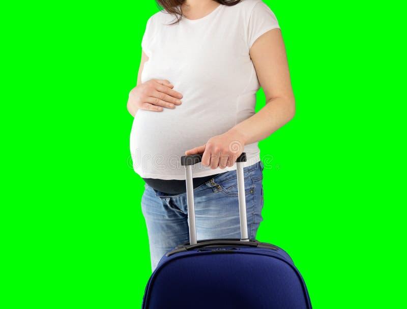 Τουρίστας εγκύων γυναικών στοκ φωτογραφία με δικαίωμα ελεύθερης χρήσης