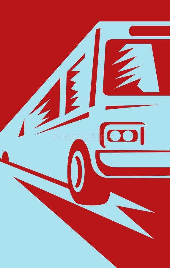 τουρίστας οχημάτων πυκνών &d ελεύθερη απεικόνιση δικαιώματος