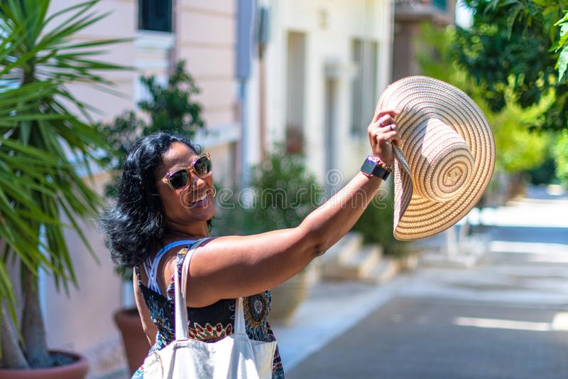 Τουρίστας στην Αθήνα Ελλάδα στοκ εικόνα με δικαίωμα ελεύθερης χρήσης