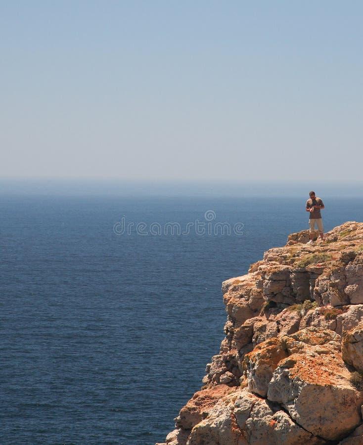 τουρίστας de ponta sagres στοκ φωτογραφία με δικαίωμα ελεύθερης χρήσης