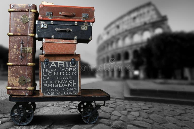 Τουρίστες αποσκευών στοκ φωτογραφίες με δικαίωμα ελεύθερης χρήσης