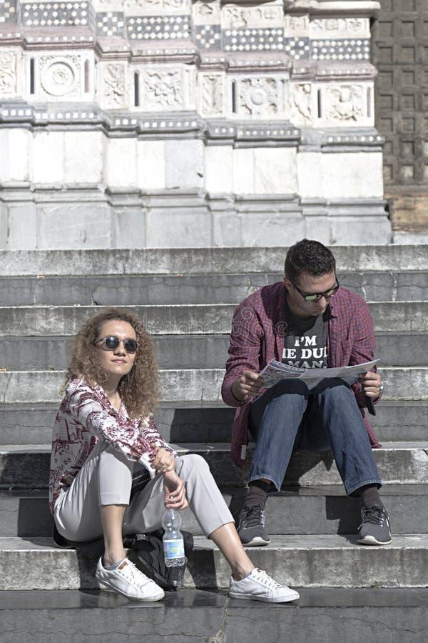 Τουρίστες στη Γένοβα στοκ φωτογραφίες με δικαίωμα ελεύθερης χρήσης
