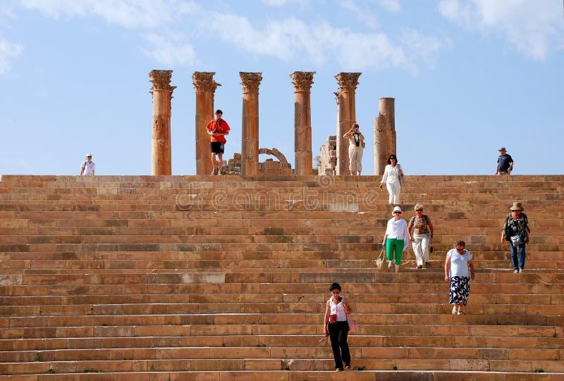 τουρίστες της Ιορδανία&sigma στοκ εικόνα