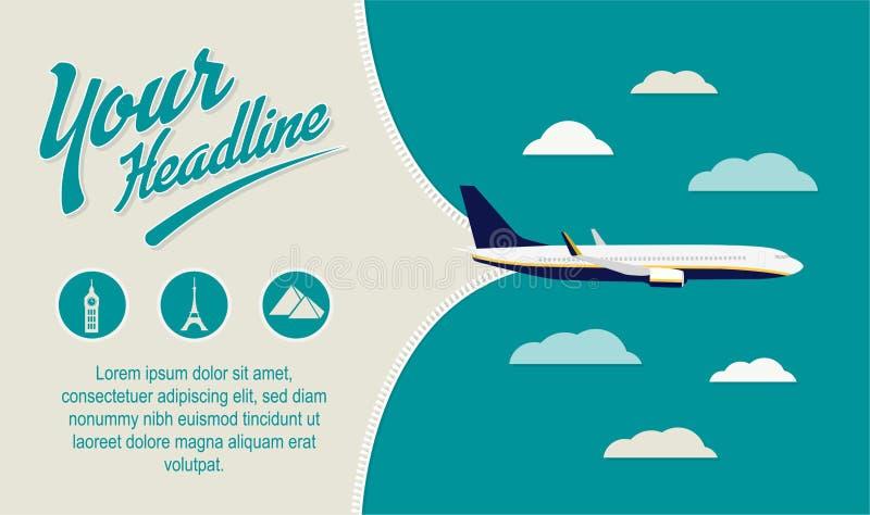 Τουρισμός, ιπτάμενο ταξιδιωτικού γραφείου στοκ εικόνες με δικαίωμα ελεύθερης χρήσης
