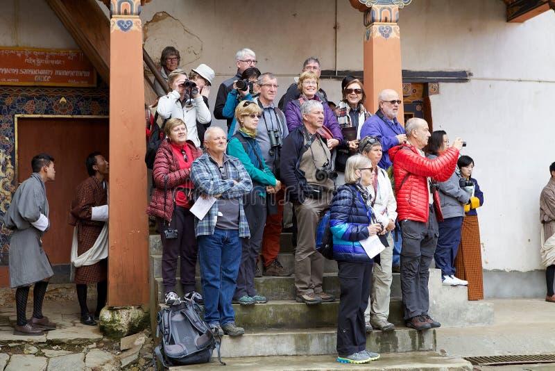 Τουρισμός, Μπουτάν στοκ εικόνες με δικαίωμα ελεύθερης χρήσης