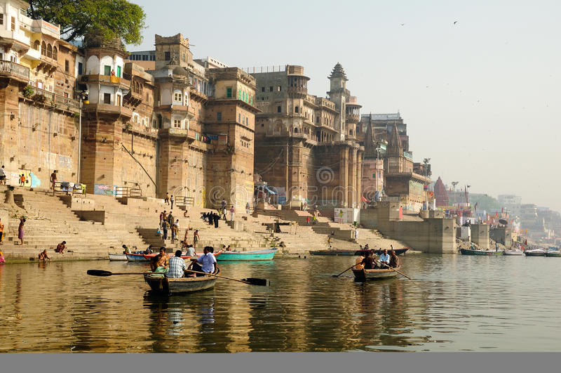 τουρισμός Varanasi στοκ φωτογραφία με δικαίωμα ελεύθερης χρήσης