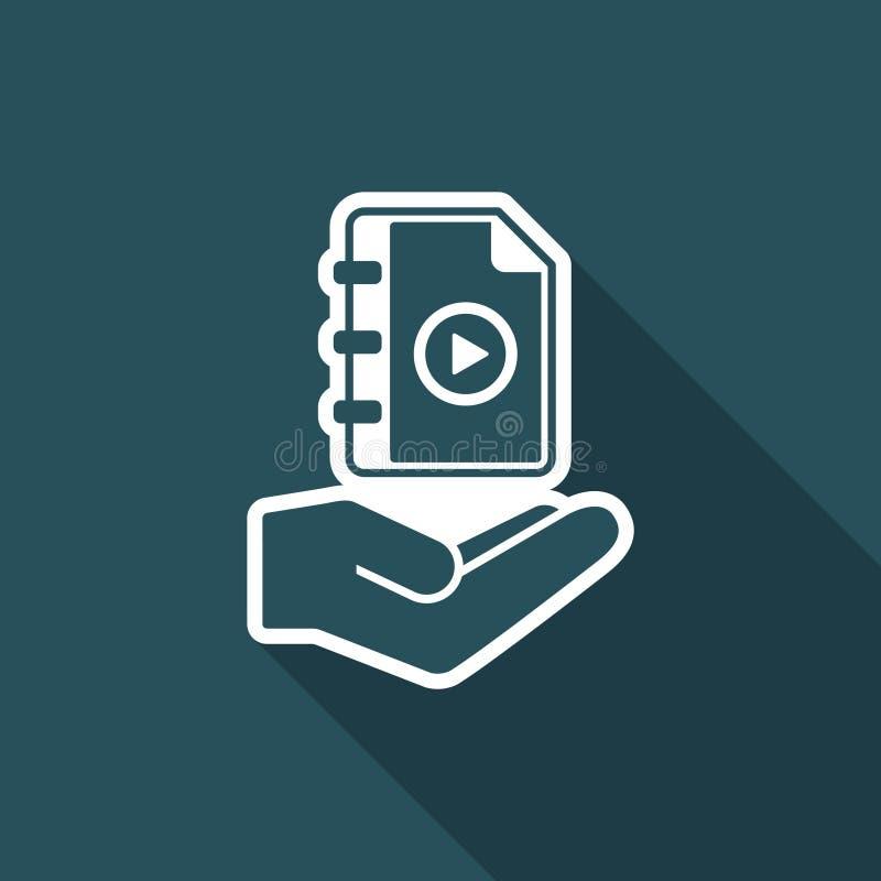 Τουριστικός οδηγός χρηστών - ελάχιστο εικονίδιο διανυσματική απεικόνιση