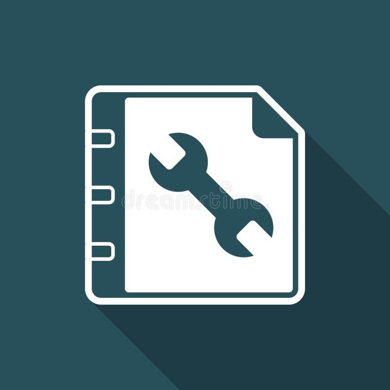 Τουριστικός οδηγός χρηστών - ελάχιστο εικονίδιο ελεύθερη απεικόνιση δικαιώματος