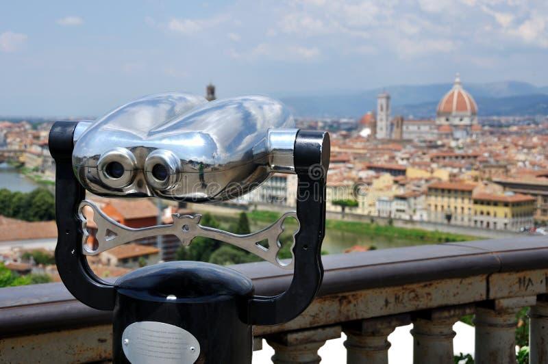 Τουριστικό τηλεσκόπιο, Φλωρεντία, Ιταλία στοκ φωτογραφίες