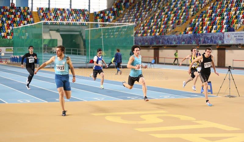 Τουρκική αθλητική φυλή προσπάθειας αρχείων αθλητισμού ομοσπονδίας εσωτερική στοκ εικόνα