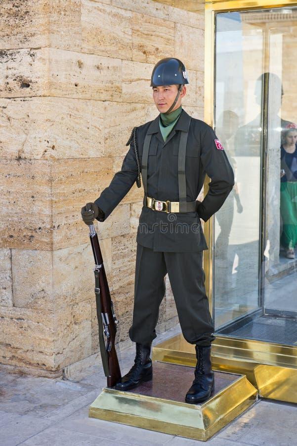Τουρκική στρατιωτική μόνιμη φρουρά στρατιωτών στοκ εικόνες