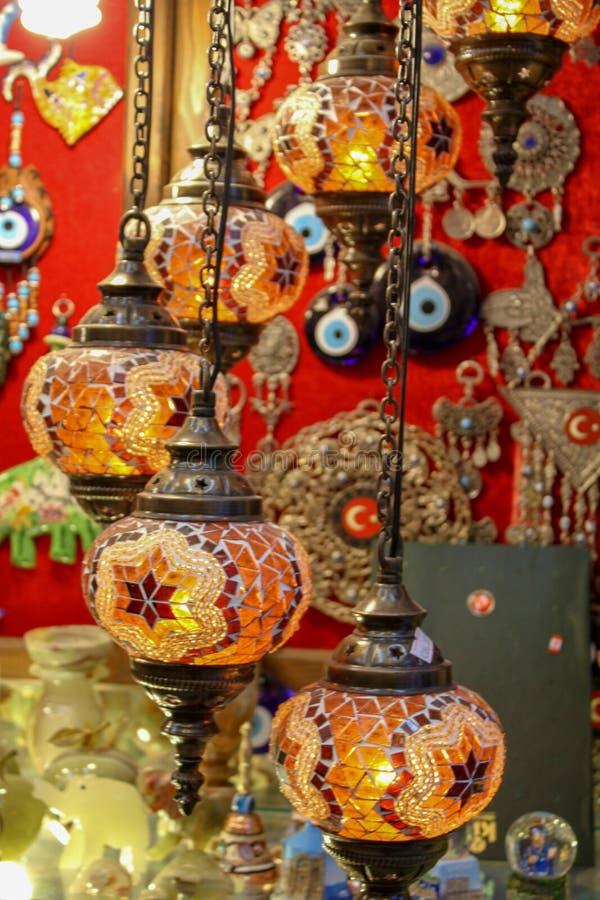 Τουρκικοί λαμπτήρες μωσαϊκών στοκ εικόνα με δικαίωμα ελεύθερης χρήσης