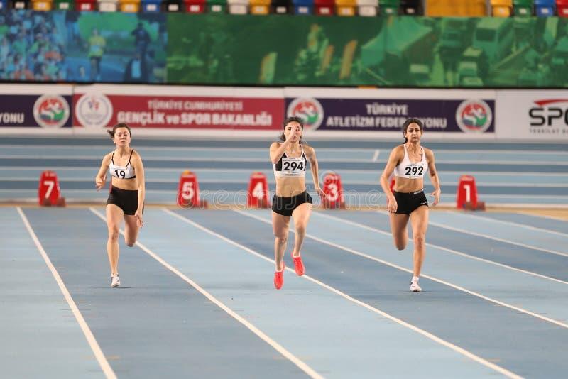 Τουρκικός αθλητικός εσωτερικός ανταγωνισμός κατώτατων ορίων ομοσπονδίας ολυμπιακός στοκ εικόνες