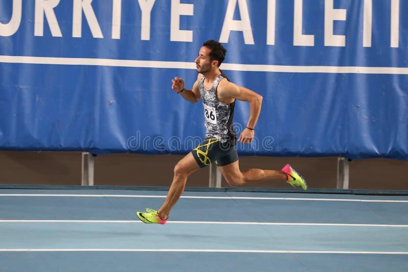 Τουρκικός αθλητικός εσωτερικός ανταγωνισμός κατώτατων ορίων ομοσπονδίας ολυμπιακός στοκ φωτογραφία
