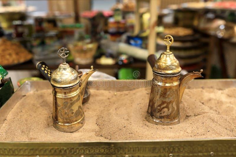 Τουρκικό δοχείο καφέ στοκ εικόνα