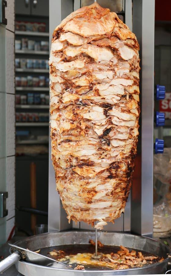 Τουρκικό κοτόπουλο doner kebab στοκ εικόνα