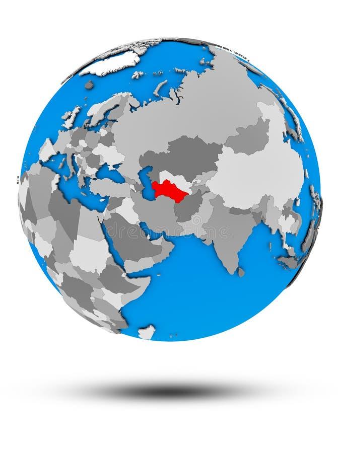 Τουρκμενιστάν σφαίρα που απομονώνεται στην πολιτική διανυσματική απεικόνιση
