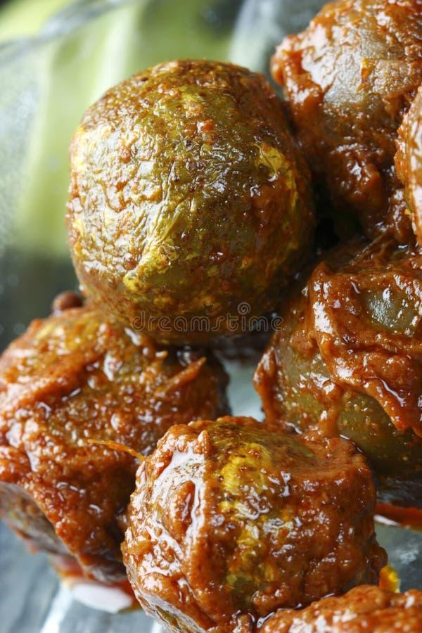 Τουρσί Amla - ένα δημοφιλές ινδικό τουρσί στοκ εικόνες με δικαίωμα ελεύθερης χρήσης