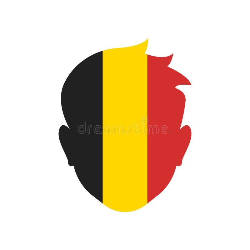 Του Βελγίου σημάδι και σύμβολο εικονιδίων διανυσματικό που απομονώνονται στο άσπρο υπόβαθρο απεικόνιση αποθεμάτων