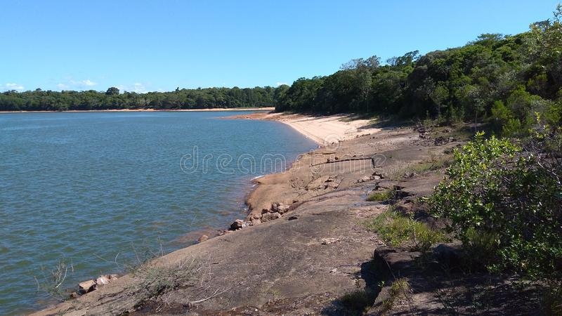 Του γλυκού νερού παραλία στοκ φωτογραφία με δικαίωμα ελεύθερης χρήσης