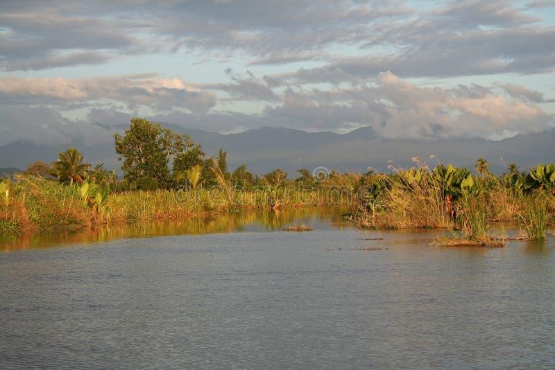 του δέλτα ποταμός της Μαδ& στοκ εικόνα