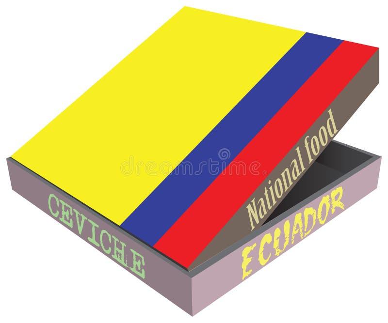 Του Εκουαδόρ εθνικό πιάτο Seviche απεικόνιση αποθεμάτων