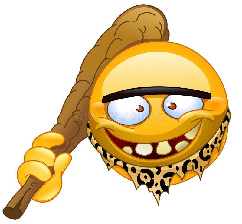 Του Νεάντερταλ emoticon στοκ φωτογραφία