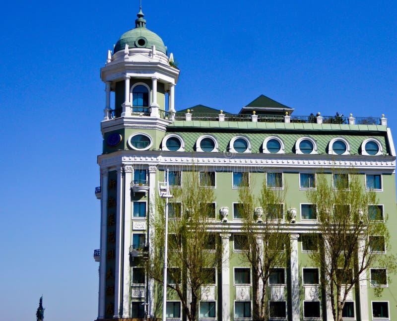 Του Χάρμπιν κεντρική αρχιτεκτονική ύφους λεωφόρων ευρωπαϊκή στοκ εικόνες