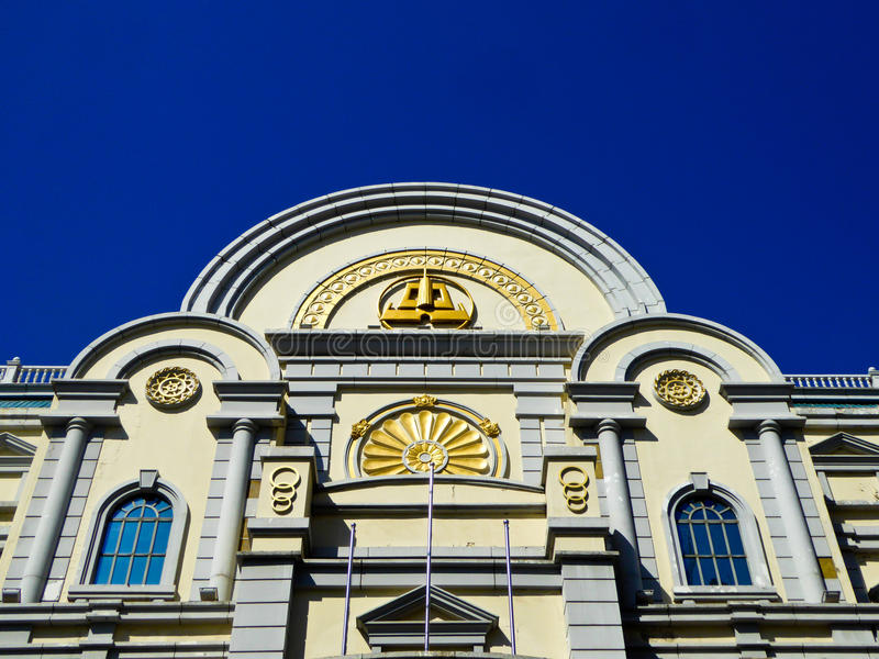 Του Χάρμπιν κεντρική αρχιτεκτονική ύφους λεωφόρων ευρωπαϊκή στοκ φωτογραφίες