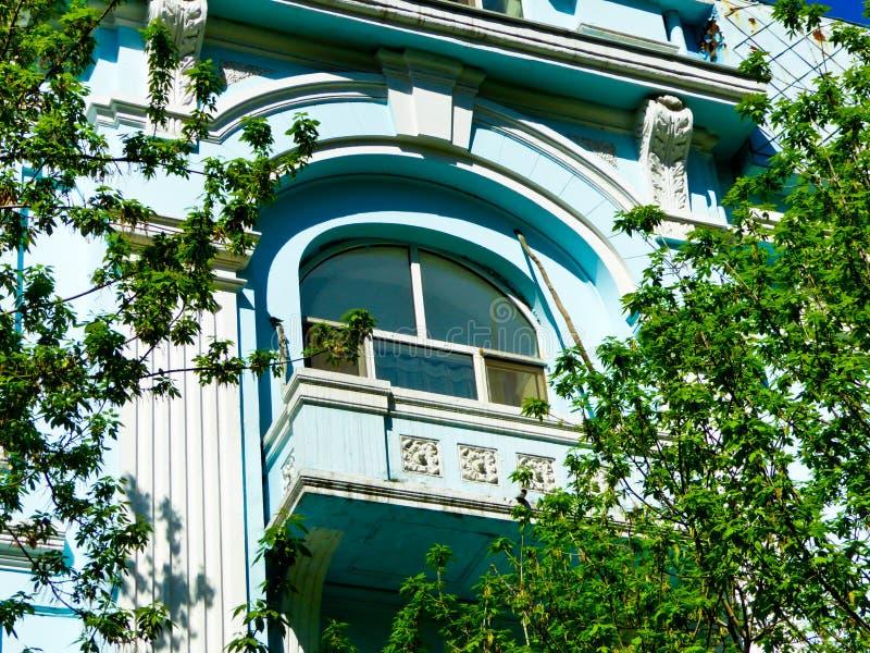 Του Χάρμπιν κεντρικό παράθυρο ύφους λεωφόρων ευρωπαϊκό στοκ εικόνα με δικαίωμα ελεύθερης χρήσης