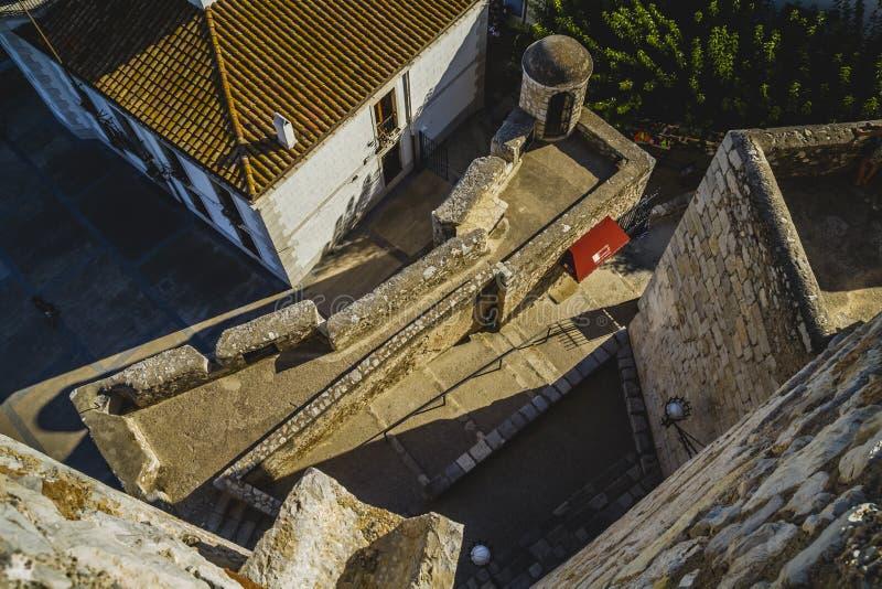 Του χωριού απόψεις Penyscola από το κάστρο, επαρχία της Βαλένθια SP στοκ εικόνα με δικαίωμα ελεύθερης χρήσης