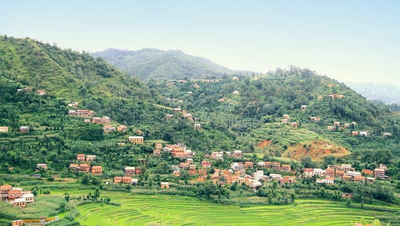 Του χωριού ευρεία άποψη Balthali στοκ εικόνες με δικαίωμα ελεύθερης χρήσης