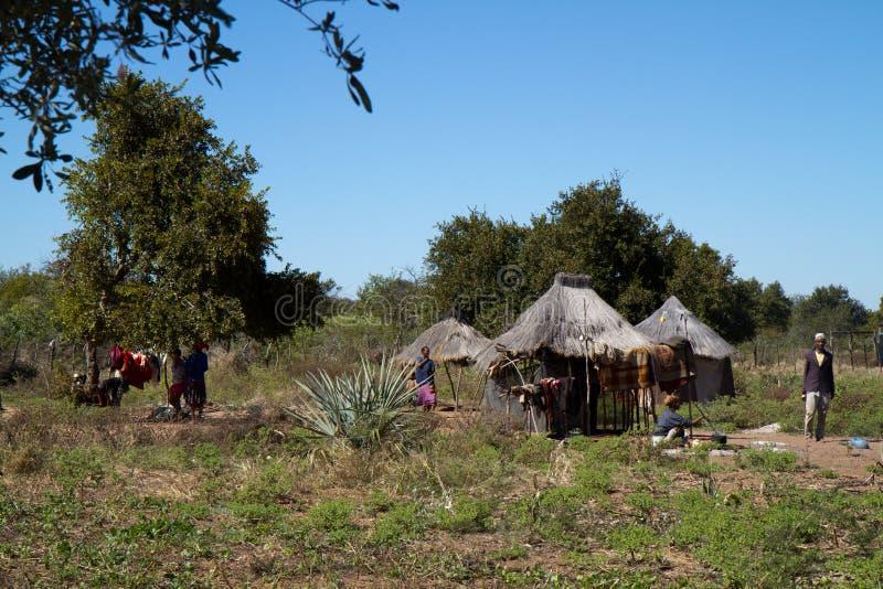 Του χωριού ζωή SAN στη Ναμίμπια στοκ εικόνες με δικαίωμα ελεύθερης χρήσης