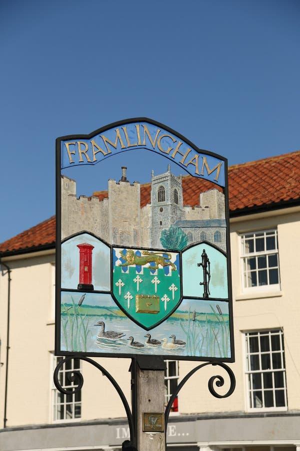Του χωριού σημάδι, Framlingham στοκ εικόνες με δικαίωμα ελεύθερης χρήσης