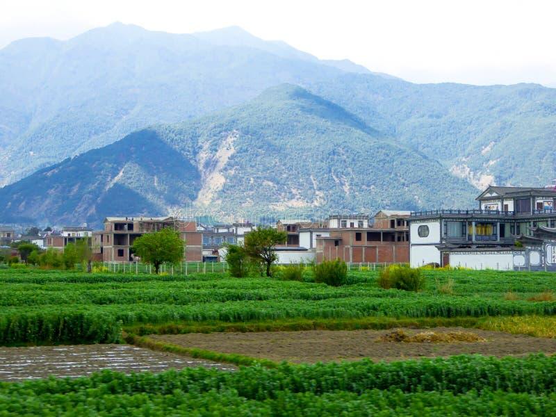 Του χωριού σπίτια σε Yunnan στοκ φωτογραφίες