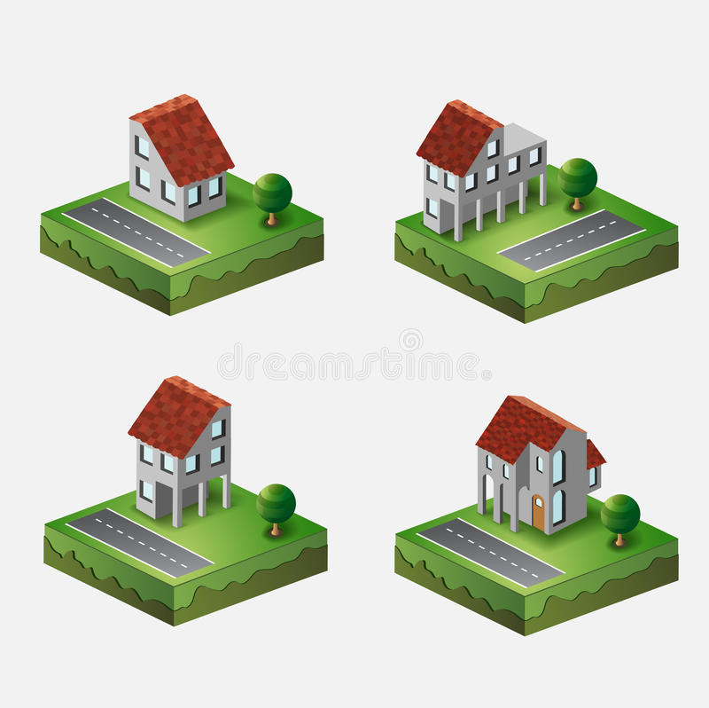 Του χωριού σπίτια ελεύθερη απεικόνιση δικαιώματος