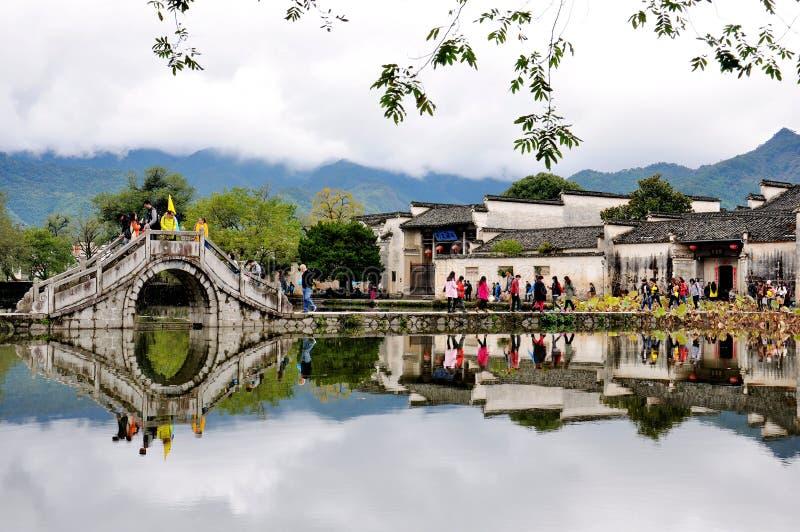 Του χωριού τοπίο Hongcun, Κίνα στοκ εικόνες