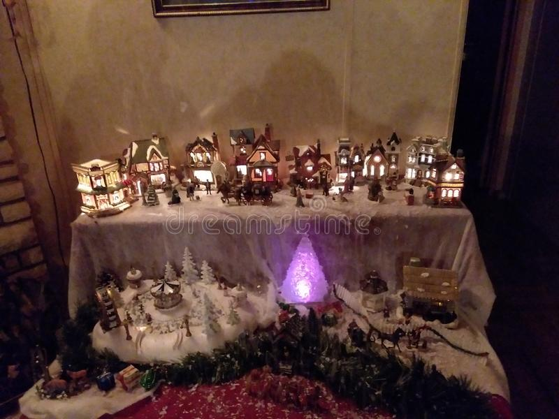 Του χωριού χώρα των θαυμάτων Χριστουγέννων στοκ εικόνα με δικαίωμα ελεύθερης χρήσης