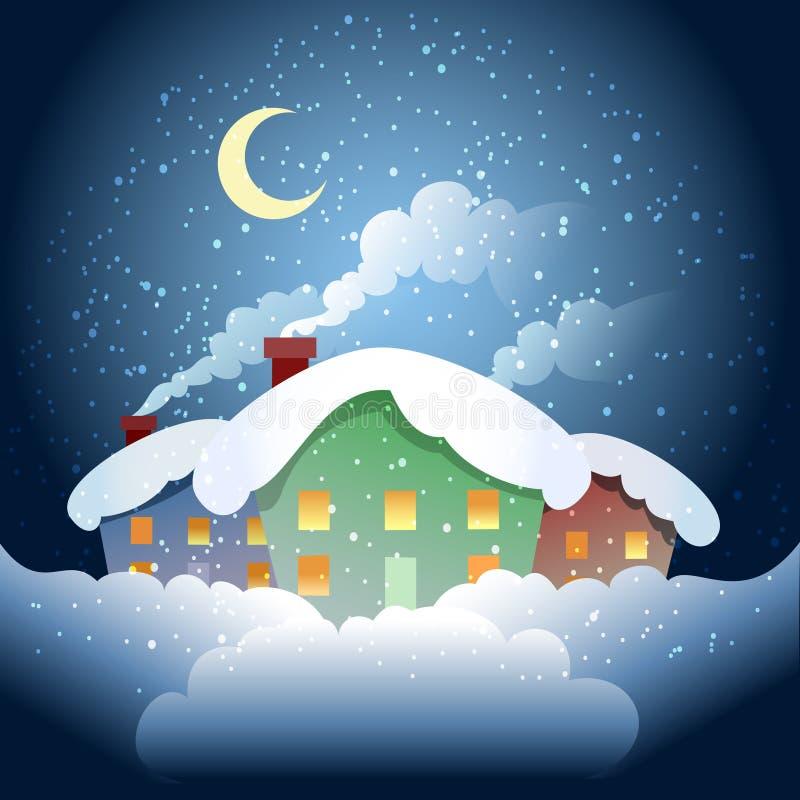 του χωριού vladimir χειμώνας της Ρωσίας περιοχών kozlovo διανυσματική απεικόνιση