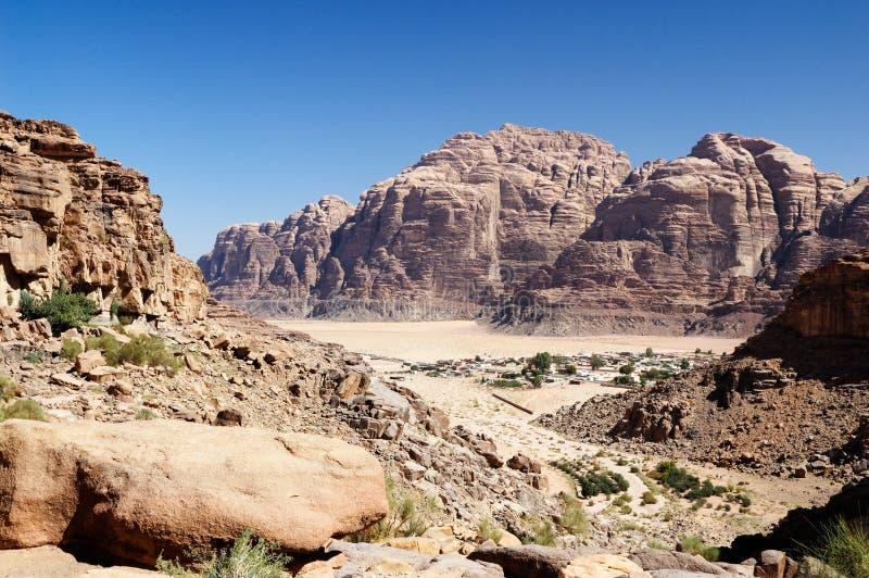 του χωριού wadi ρουμιού στοκ φωτογραφία