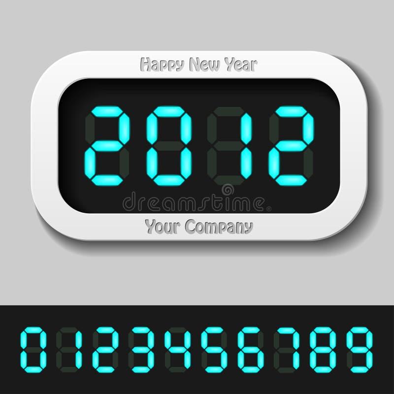 του 2012 μπλε ψηφιακό έτος αρ&i ελεύθερη απεικόνιση δικαιώματος