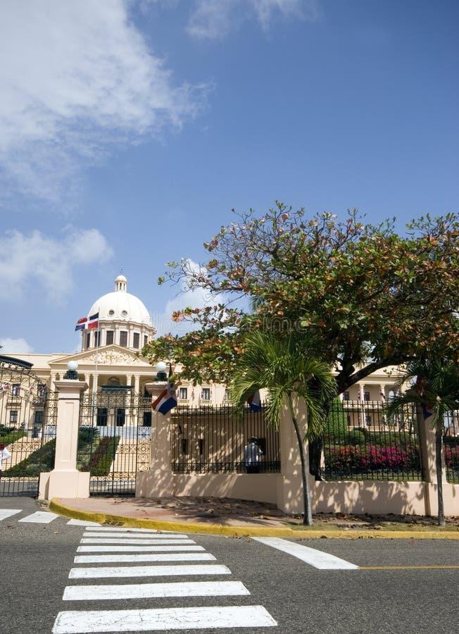 του Domingo δομινικανό santo republi palacio παλατιών nacional εθνικό στοκ εικόνα
