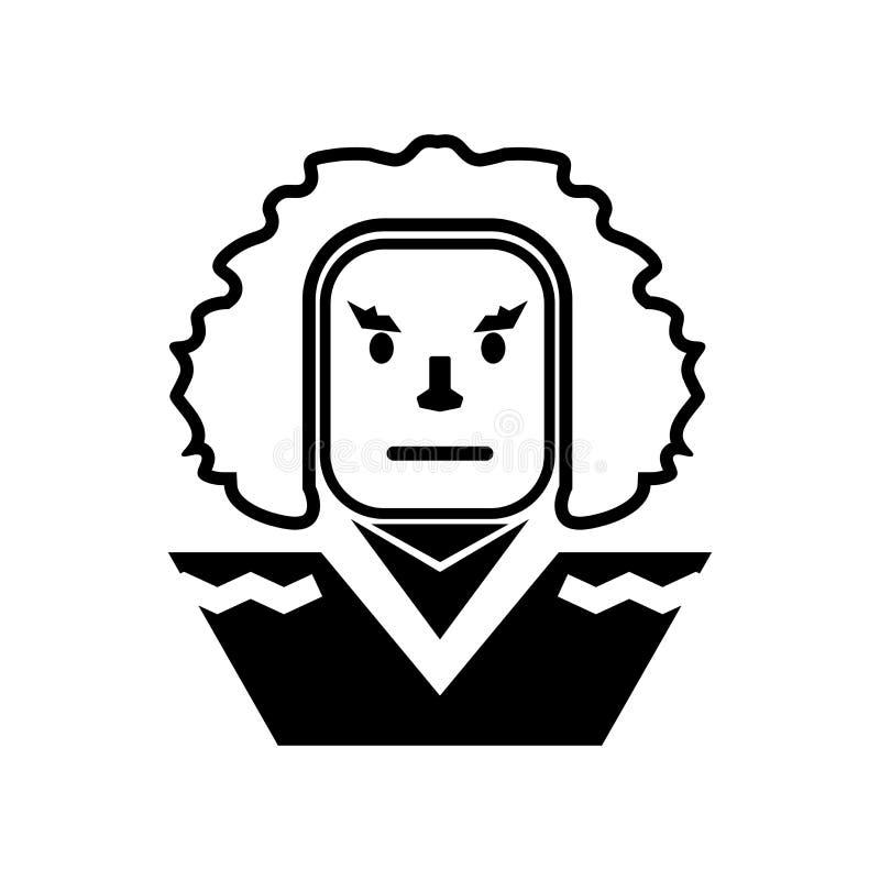 Του George Ουάσιγκτον σημάδι και σύμβολο εικονιδίων διανυσματικό που απομονώνονται στο άσπρο υπόβαθρο, έννοια λογότυπων του Georg απεικόνιση αποθεμάτων