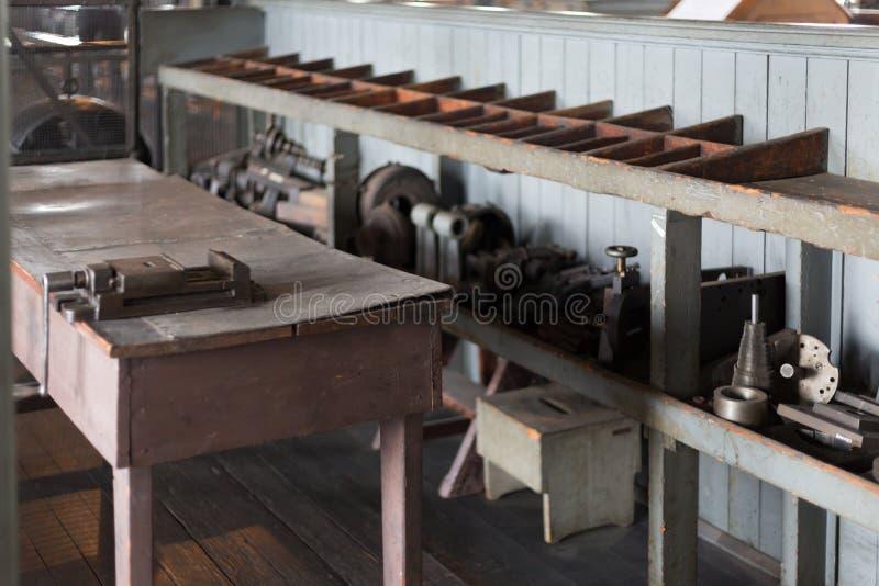 Του Thomas Edison εργαστήριο του Thomas Edison National Historical Park κονσερβών στοκ εικόνες