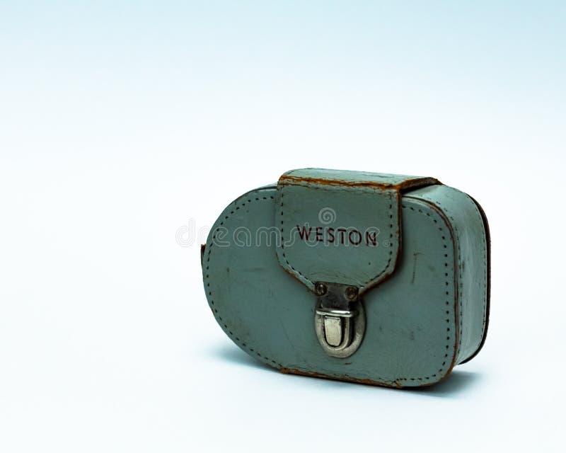 Του Weston φωτόμετρο φωτογραφίας φωτομέτρων εκλεκτής ποιότητας στο απομονωμένο άσπρο υπόβαθρο στοκ φωτογραφία με δικαίωμα ελεύθερης χρήσης