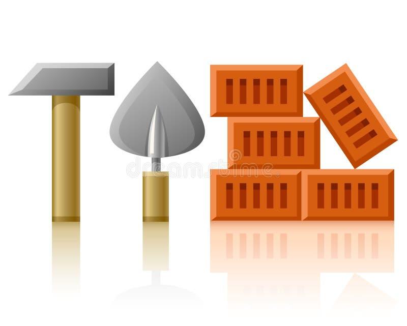 τούβλα που χτίζουν τα ερ&ga ελεύθερη απεικόνιση δικαιώματος