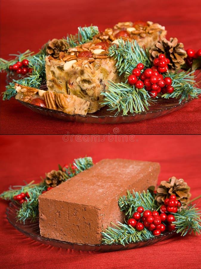 τούβλο fruitcake στοκ εικόνα